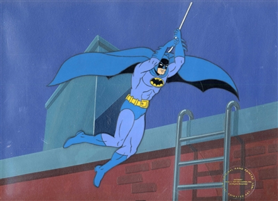 Original Production Cel of Batman from The New Adventures of Batman
