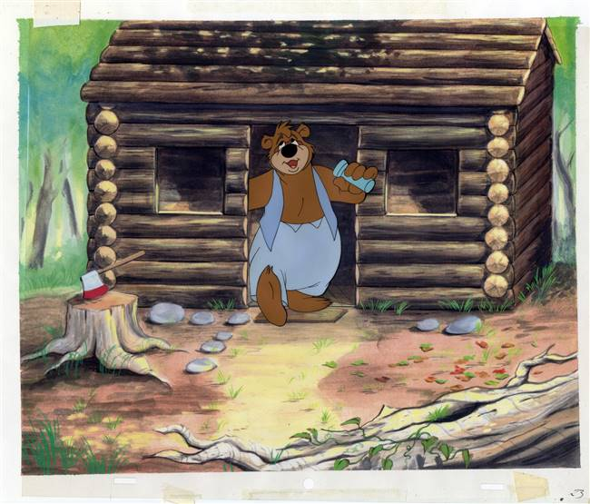 Original production cel Barney Bear from MGM (1940s)