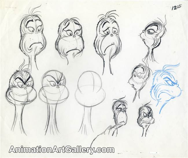 Character Study of the Grinch from The Grinch Grinches the Cat in the Hat