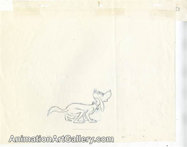 Production Drawing of Max from The Grinch Grinches the Cat in the Hat