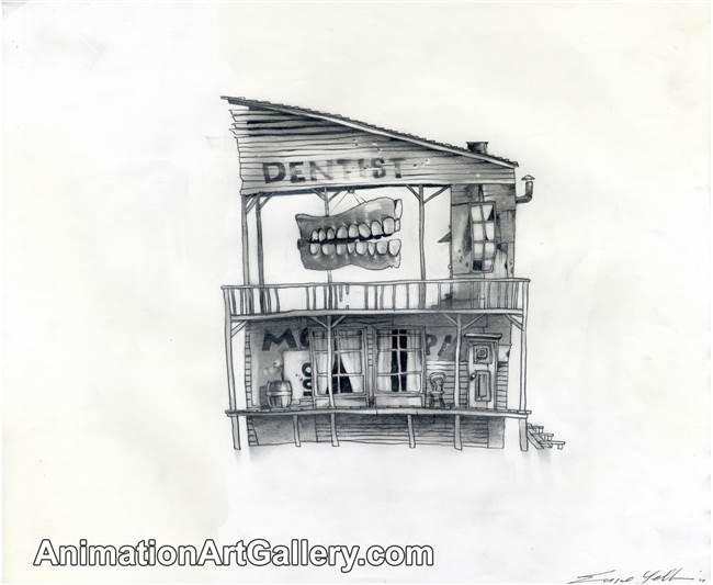 Concept Piece of a dentist's office from Rango