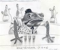 Character Drawing of Bartender Toad from Rango
