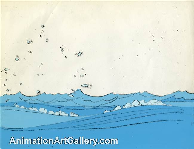 Production Cel with Matching Drawing from Snoopy, Come Home