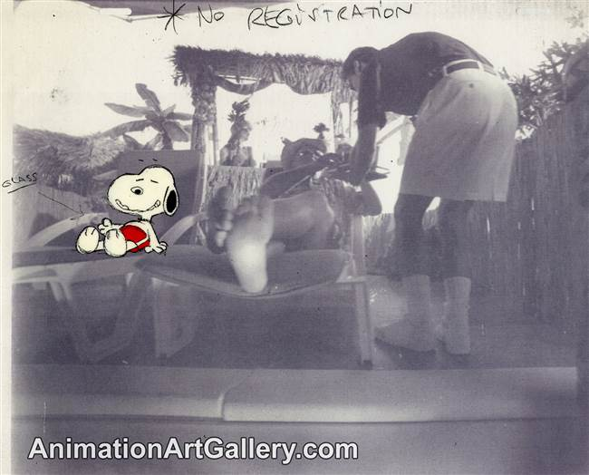 Production Cel of Snoopy - PNCCS48