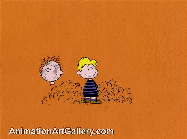 Production Cel of Pigpen and Schroeder from Peanuts (c. 1970s/1980s)