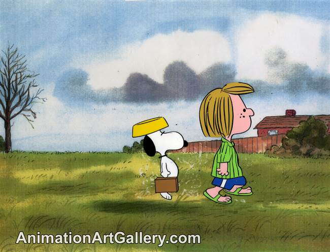 Production Cel of Snoopy and Peppermint Patty from He's Your Dog, Charlie Brown!