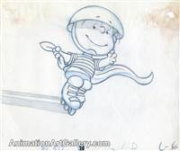 Production Drawing of Linus from Peanuts (c. 1980s)