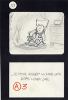 Original Production Storyboard Drawing of Winnie the Pooh from Seasons (1981)