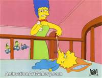 Production Cel of Marge Simpson and Maggie Simpson from Homer Alone