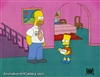 Production Cel of Homer Simpson and Bart Simpson from Moaning Lisa