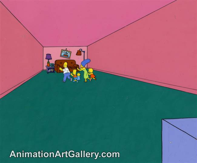 couch gag of the Simpson Family from Homer Bad Man
