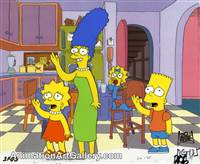 Production Cel of Marge Simpson and Bart Simpson from Treehouse of Horror V