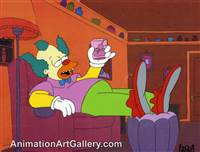 Production Cel of Krusty the Klown from Krusty Gets Busted