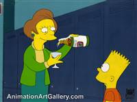 Production Cel of Edna Krabappel and Bart Simpson from Sideshow Bob Roberts