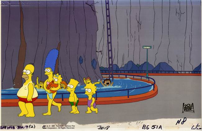 Original Production Cel of the Simpsons from Brush with Greatness