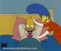 Production Cel of Homer Simpson and Marge Simpson from Some Enchanted Evening (The Simpsons)