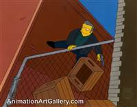 Production Cel of Fat Tony from Trilogy of Error