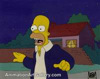 Production Cel of Homer Simpson from Some Enchanted Evening (The Simpsons)