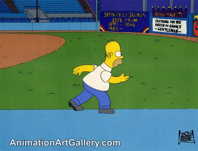 Production Cel of Homer Simpson from Dancin' Homer