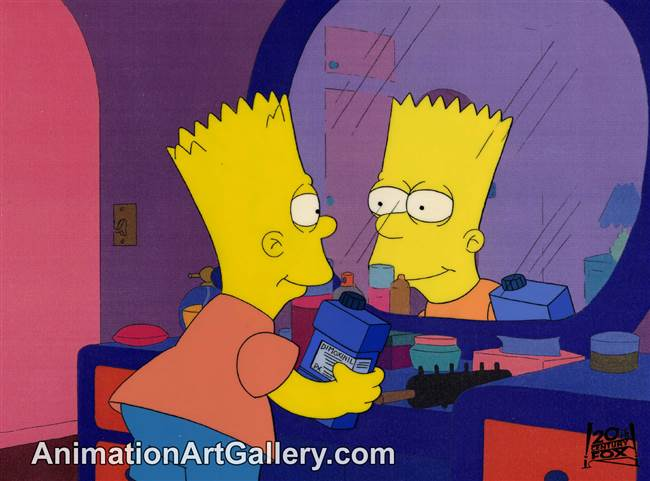 Production Cel of Bart Simpson from Simpson and Delilah