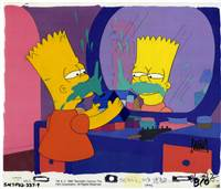 Original Production Cel of Bart Simpson from Simpson and Delilah
