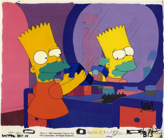 Original Production Cel Bart Simpson  From Simpson and Delilah
