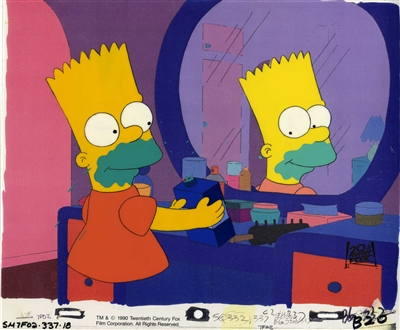 Original Production Cel of Bart Simpson from Simpson and Delilah (1990)