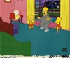Original Production Cel of Bart, Lisa, and Homer Simpson from Brush with Greatness (1991)