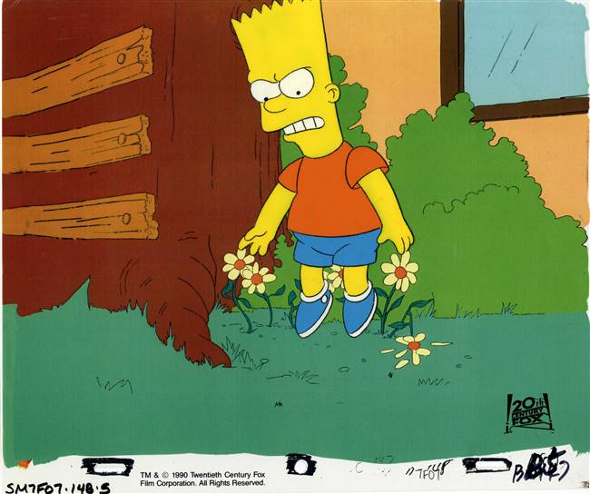 Original Production Cel of Bart Simpson from Bart vs. Thanksgiving (1990)
