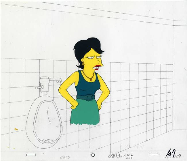 Original Production Cel of a woman from The Simpsons Spin-Off Showcase (1997)