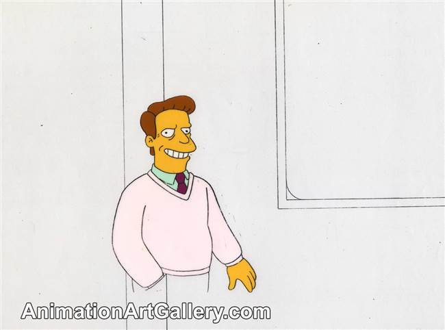 Production Cel of Troy McClure from The Simpsons Spin-Off Showcase