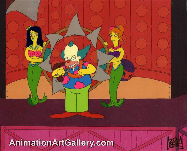 Production Cel of Krusty the Klown from Brush with Greatness