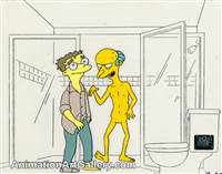 Production Cel of Mr. Burns and Smithers from Who Shot Mr. Burns? (Part Two)