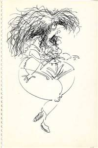 Original Character drawing of a woman by Tim Burton