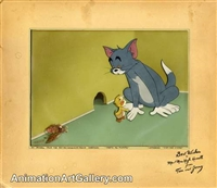 Production Cel of Tom the cat and Jerry the mouse from That's My Mommy
