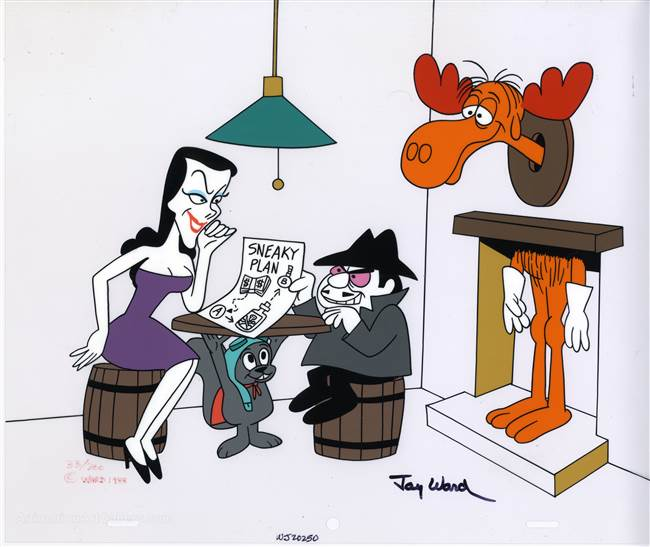 Sneaky Plan Limited Edition Cel from The Rocky and Bullwinkle Show
