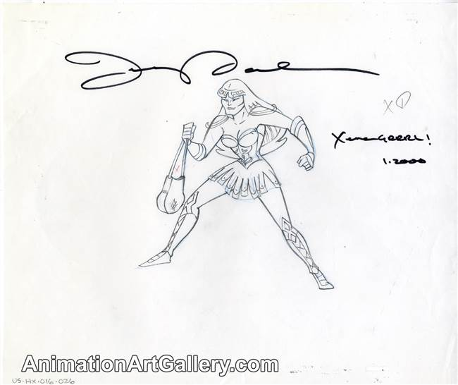 Production Drawing of Xena from The Battle for Mount Olympus