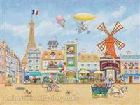 Paris En Avril (Giclee on Paper) - Kirk Mueller
