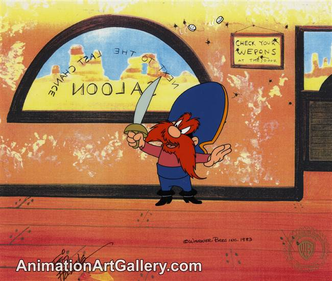 Production Cel of Yosemite Sam from Warner Bros (c. 1980s)