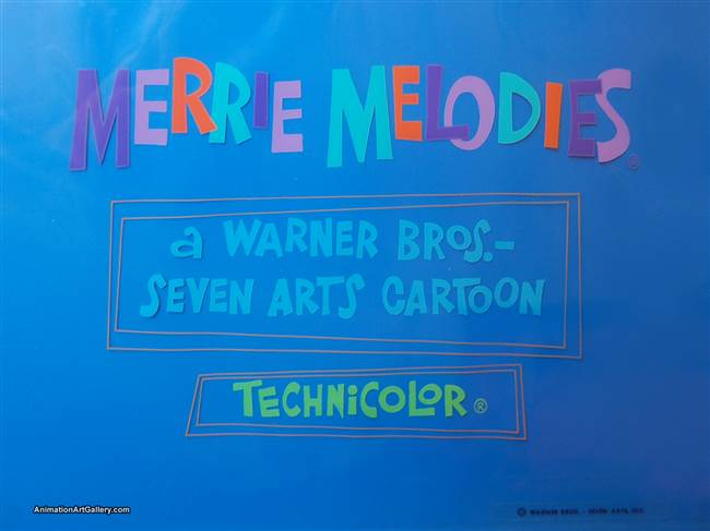Title Card Cel of a Merrie Melodies title card from Warner Bros (c.1960s)