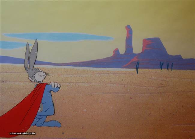 Production Cel of Bugs Bunny from Super-Rabbit