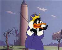 Original Production Cel of Daffy Duck from A Connecticut Rabbit in King Arthur's Court