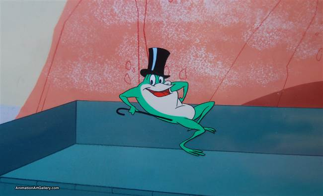 Production Cel of Michigan J. Frog from Another Froggy Evening