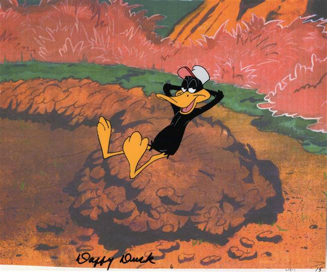 Production Cel of Daffy Duck from Warner Bros (c.1970s)