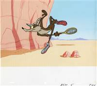 Production Cel of Wile E. Coyote from Warner Bros (c.1970s)