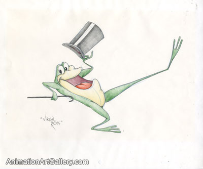 Character Drawing of Michigan J. Frog from Warner Bros (c. 1980s)