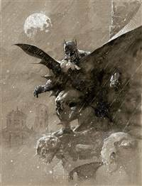 Batman Over San Prospero (Canvas)