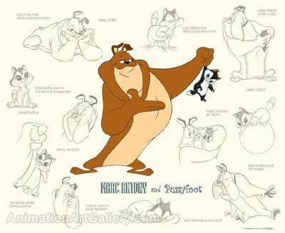 Marc Anthony & Pussyfoot Model Sheet