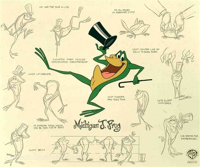 Michigan J. Frog Model Sheet