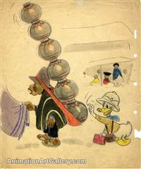 Concept Piece of Donald Duck from Saludos Amigos
